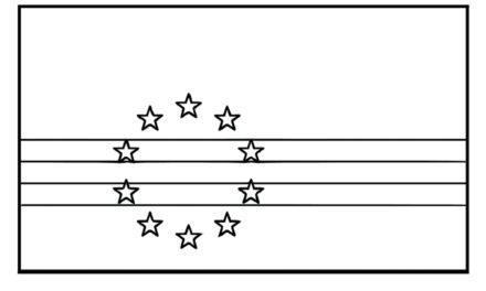 Coloring the Cape Verdean Flag