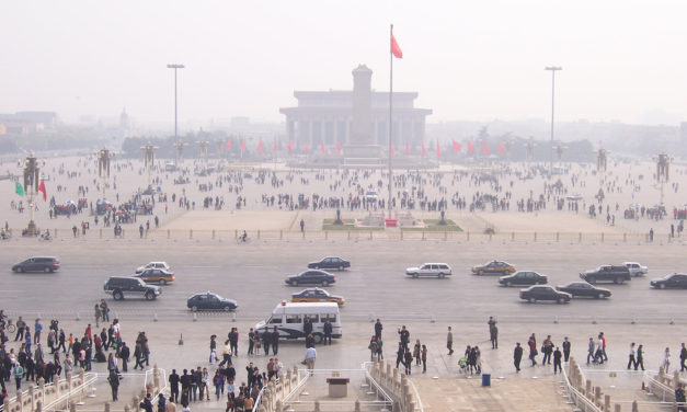 That was then this now: Crowds in China.