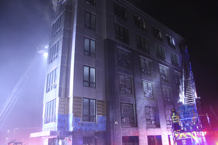 Fiery Blaze Scorches New Apartments