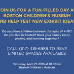 Boston Children's Museum Family Event