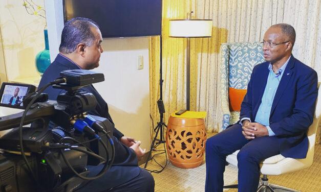 The Prime Minister of Cabo Verde talks with CVN'S Darren Duarte